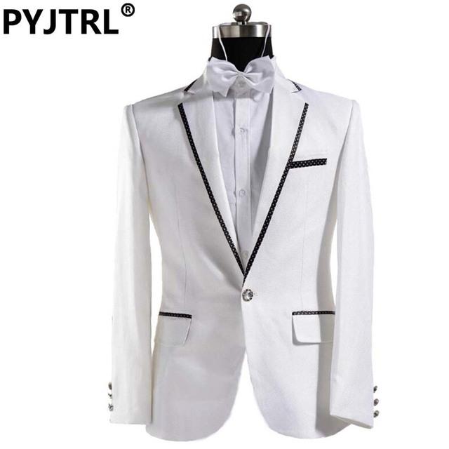 (Chaqueta + Pantalón) Negro Y Blanco de Plata Italiana Para Hombre de Traje de Novio Tuxedo Hombres de La Manera Para La Boda