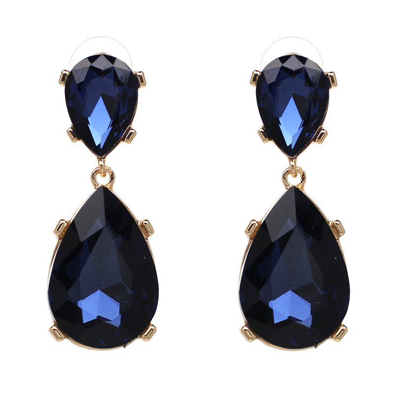 15 colors waterdrop stud earring wholesale hot sale statement earrings crystal stud Earrings for party fashion earring