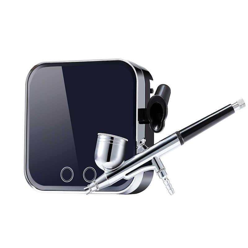 0. 3 Mm Airbrush Compressor 7CC Portable Touch Mesin Tato Tubuh Lukisan Alat Nail Art Model Kerajinan DIY Kue Semprot Mesin