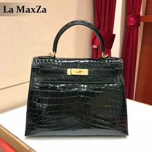 2017 women's luxury crocodile leather handbag