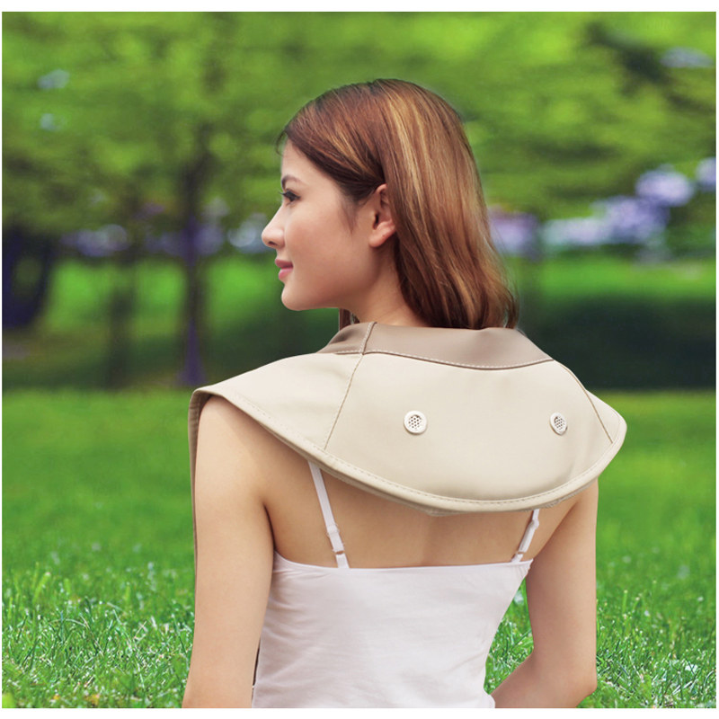 HFR 878 3C Electric Hammer Full Body Massage Beat Neck Shoulder Tapping Massager Belt