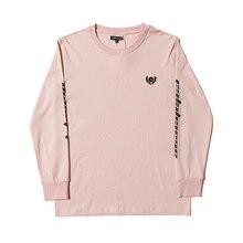 48f44166 2019 Kanye West Season 5 Oversized Calabasas Logo Emboridery Women Men Long  Sleeve T shirt Hip