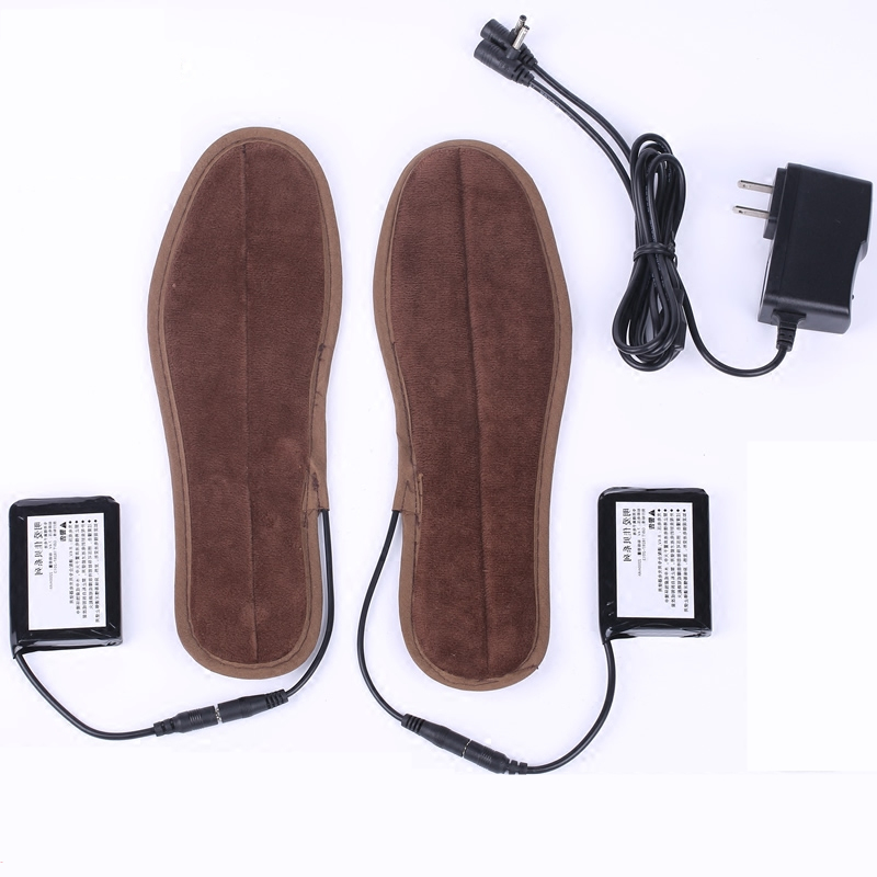 Heated insoles for Shoes Boots Outdoor Sports Rechargeable Lithium Battery Charged Heating Insoles Keep Feet Warmer