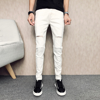 White Ripped men's Jeans