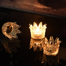 Personalized Ashtray Artificial Suppression Glass European - style Art Crown Candlestick Creative Decoration