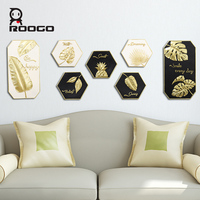 ROOGO wall hanging decoration home kids room decor hanger ornament Tropical rainforest wall hanging Nordic light luxury decorati