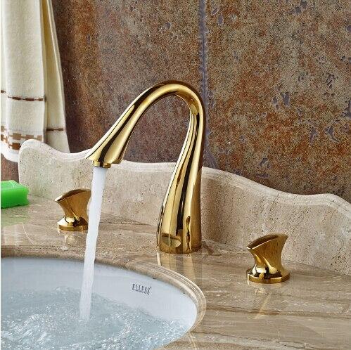 Новая модная Высококачественная обувь три отверстия раковина кран для ванной Широкое бассейна кран 8' смеситель для раковины