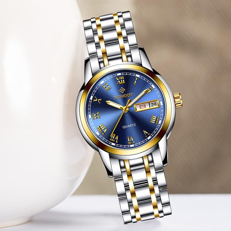 WISIODOIT luksusowa marka zegarka kobiet mody złote zegarki damskie - Zegarki damskie - Zdjęcie 3