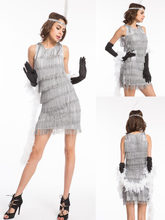 real photos 1920s Roaring 20s Flapper Costume cheerleader Charleston Dress  with boat 5 piece set hallloween costume size s-3xl 9d83ae6bfb5e
