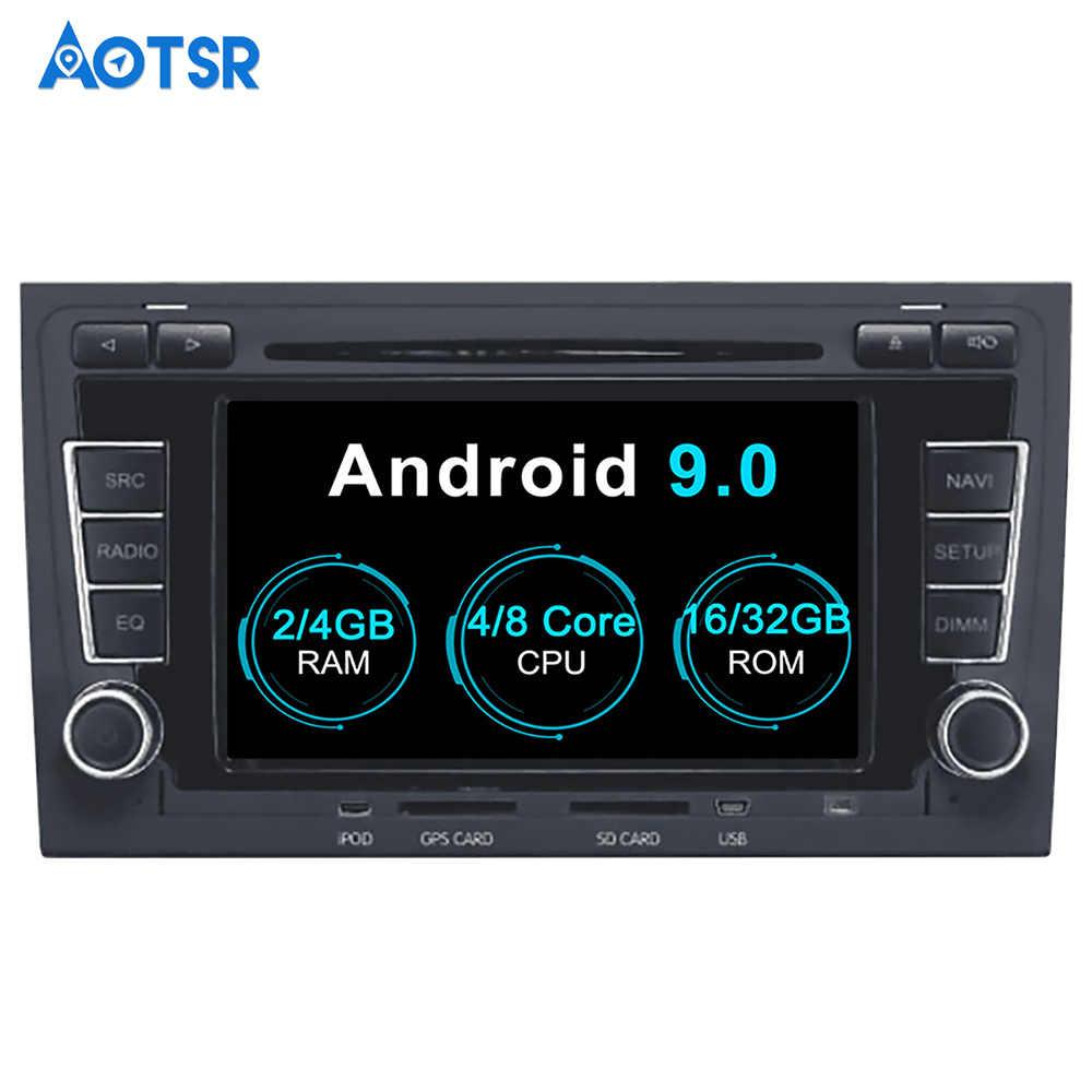 Aotsr アンドロイド 9.0 Gps ナビゲーション車の Dvd プレイヤーアウディ A4 S4 RS4 2003-2012 マルチメディア 2 din ラジオレコーダー 4 ギガバイト + 32 ギガバイト 2 ギガバイト + 16 ギガバイト