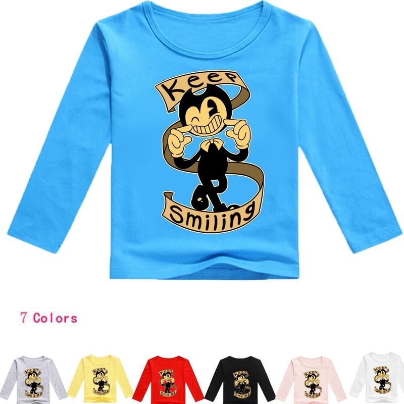 ⓪2-16Years Bobo Choses 2018 Boris Bendy T Shirt Boys Spring Top ...