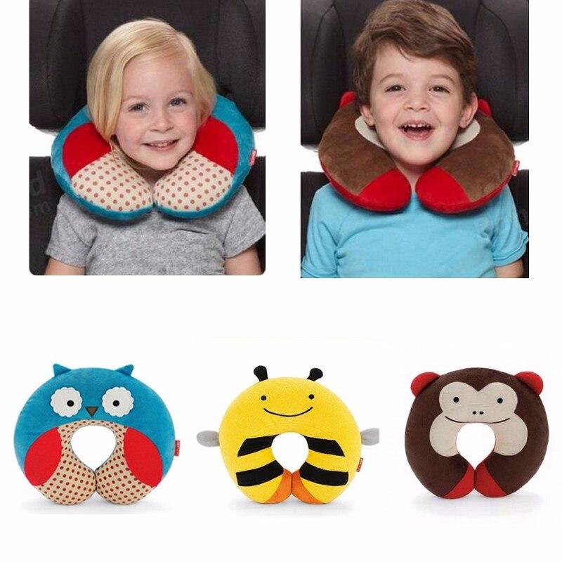 Hot Sales Children Kids Baby Plush Pillow U Shape Headrest Neck Protector Cushion Car Seat Travel For Babys Care