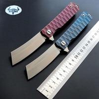 Newest Titanium Folding Knife TC4 Handle D2 Blade Tactical Survival Pocket Knife Ball Bearing Flipper Outdoor