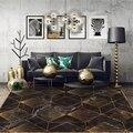 Дом в скандинавском стиле Декор Ковер большого размера для спальни черные золотые ковры геометрической формы гостиной диван чайный стол Не...