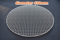 430mm Big type round stainless steel barbecue net,carbon bake grill net,round bbq grid,wire mesh bbq grill racks
