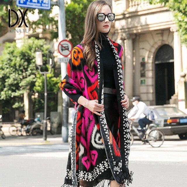 Bufanda de Cachemira de invierno, Bandana de lana de marca de lujo, manta a cuadros, bufanda cálida, bufanda a la moda y chal musulmán Hijab Foulard