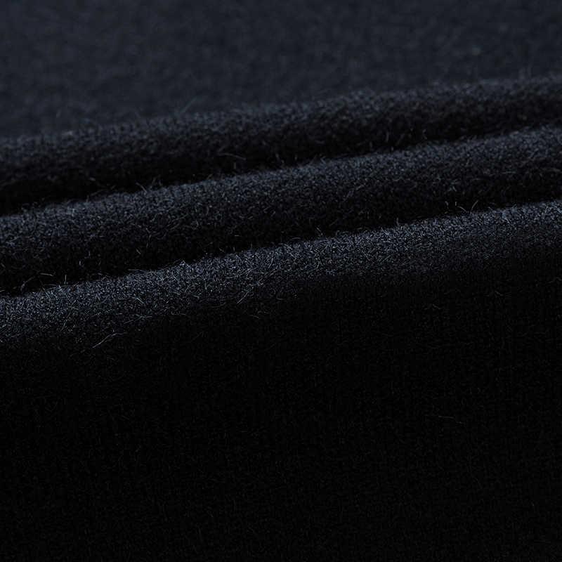 Новинка 2017 года брендовые Зимние трикотажные для мужчин s длинный кардиган, свитер человек одежда мужчин's Вязание Высокое Качественный хлопок серый
