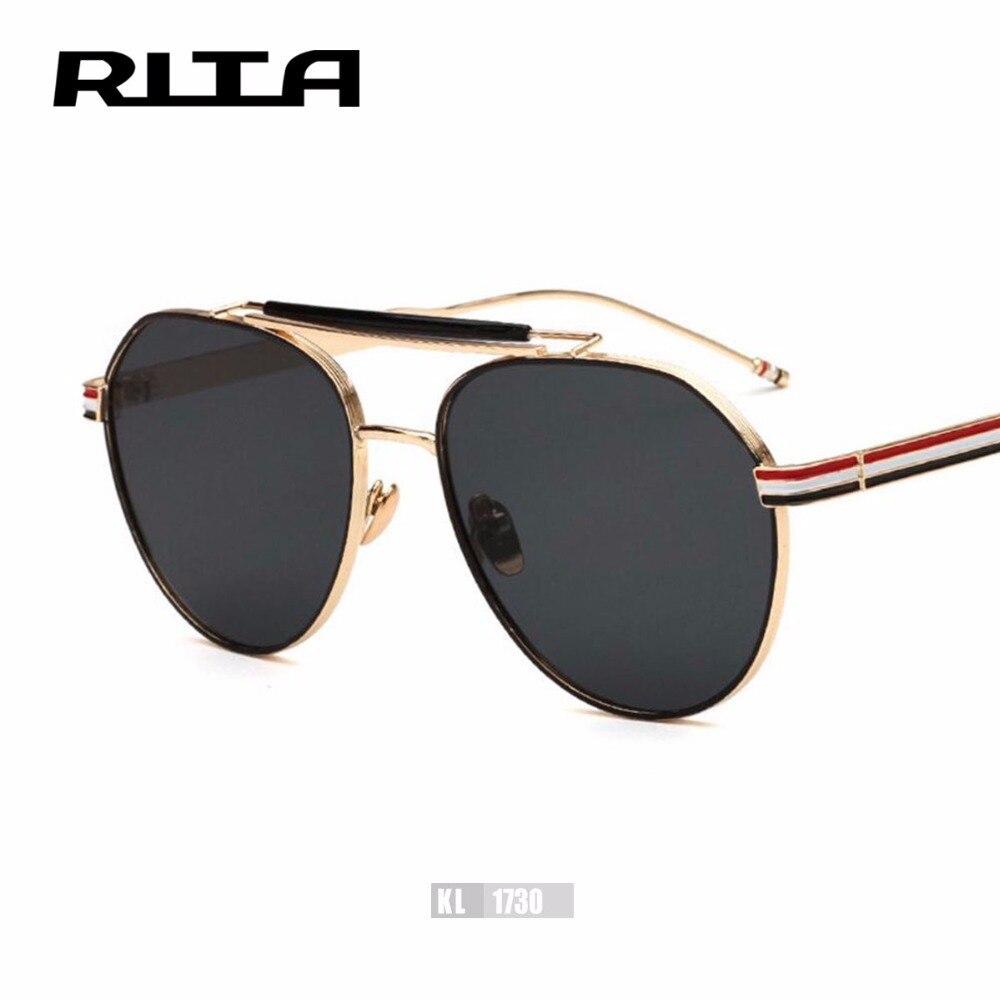 2017 RITA Thom Brown Oval Mirror Women Sunglasses TB Brand Designer Men Casual Eyewear Retro Shades UV400 Gafas de sol