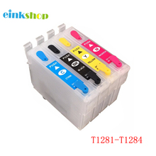 T1281 Refillable Ink Cartridge For Epson SX130 SX125 S22 SX230 SX235W SX420W SX440W SX430W SX425W SX435W SX438 SX445W SX230 29xl t1291t2992 t2993 t1294 ink cartridge full ink for stylus sx235w sx230 sx420w sx425w sx430w sx435w sx440w sx445w printer