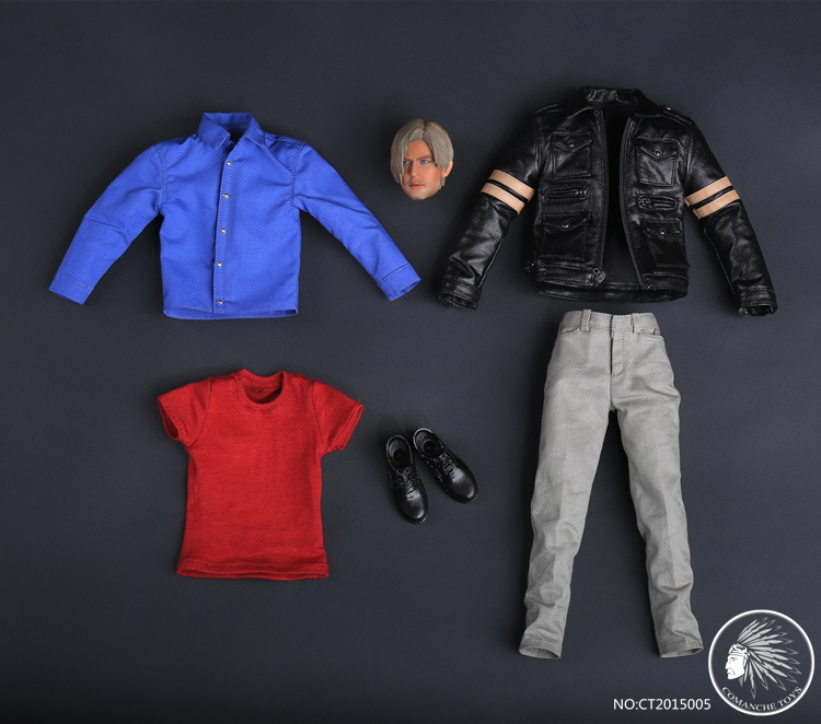 1/6 scale figure doll clothes with head for 12 Action figure doll accessories,Resident Evil Zombie Killer.not include doll body 1 6 scale resident evil 6 leon scott kennedy full set action figure for collections
