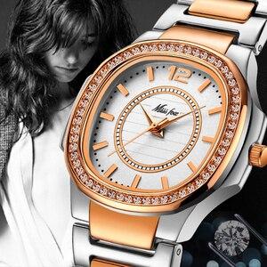 Image 5 - MISSFOX המכר שעון נשים Waches Uhr עלה זהב אופנה מזדמן גבירותיי שעון יד Xfcs Dropshipping 2020 קוורץ שעוני יד
