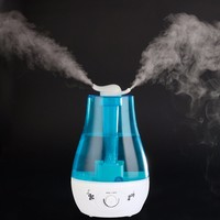 25W 220V Tabletop 2 4 4L Water Bottle Mini Home Ultrasonic Humidifier Purifier With LED Lamp