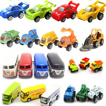 10 styles Mini Cars Cartoon Bus Toys Small Pull Back Bus Car Toys for Boys Children Baby for Kids Children Toy Randomly Sent(China)