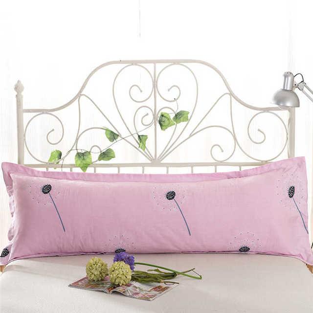 48*120 Comfy Home  Print Pillowcase Long Body Double Pillow Cover Protector Simple No Fade 100%Cotton Pillowcase 3