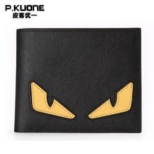 Famous Designer Wallet Women Genuine Leather Wallet Character Unisex Wallet Male Purse Cowhide Men Wallets