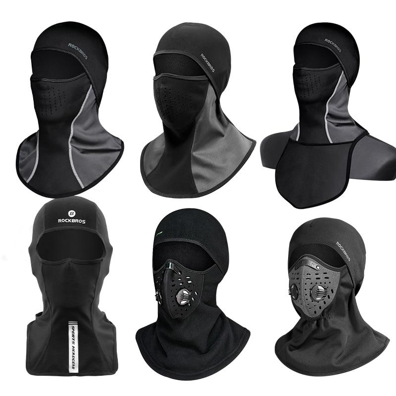 ROCKBROS Winter Thermal Fleece Ski Mask Outdoor Headgear Full Face Cover Scarfs