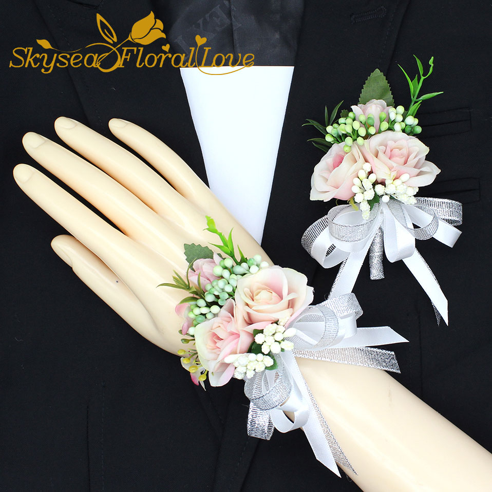 Wedding Flowers Boutonniere: 2018 New Party Corsages Prom Groom Bride Bow Designed