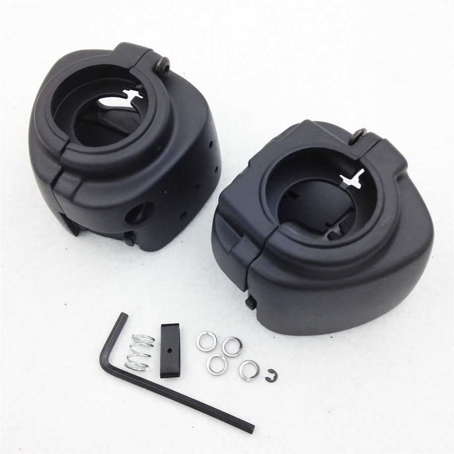 Aftermarket free shipping motor parts Switch Housing Cover for Harley Davidson Sportster Dyna Softail V-Rod 2002-2010 BLACK chrome switch housing cover for harley switch softail cover sportster dyna v rod xl 883 1200
