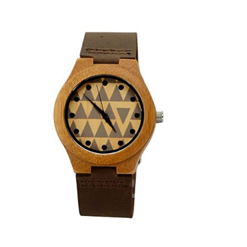 Splendid Brand Fashion Women Watch Leather Bamboo Wooden Casual Watches Top Brand