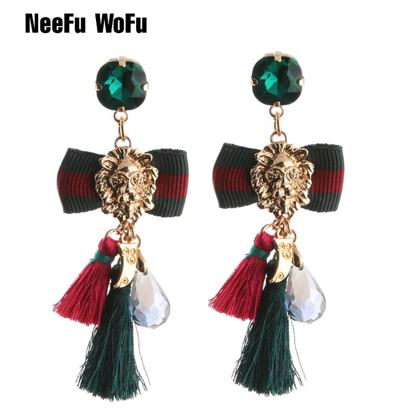 Dropwow NeeFu WoFu Lion Head Earrings Bow Tie Earring Big Earring ... ef01c74dcd34