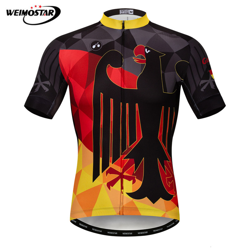 Weimostar Germany Team Cycling Jersey Summer Pro MTB Bike Jersey Downhill Bicycle Shirt Maillot Ciclismo Quick Dry Cycling Wear
