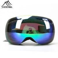 2015 Dobule Fog Mirror Women Ski Goggles Riding Glasses Outdoor Climbing For Men Outdoor Professional Skiing