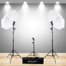 купить Photo Studio Kit With E27 Socket Photo Lighting Bulb Holder Photography Flash Soft Umbrella +Tripod&Lighting Stand+Light Bulbs дешево