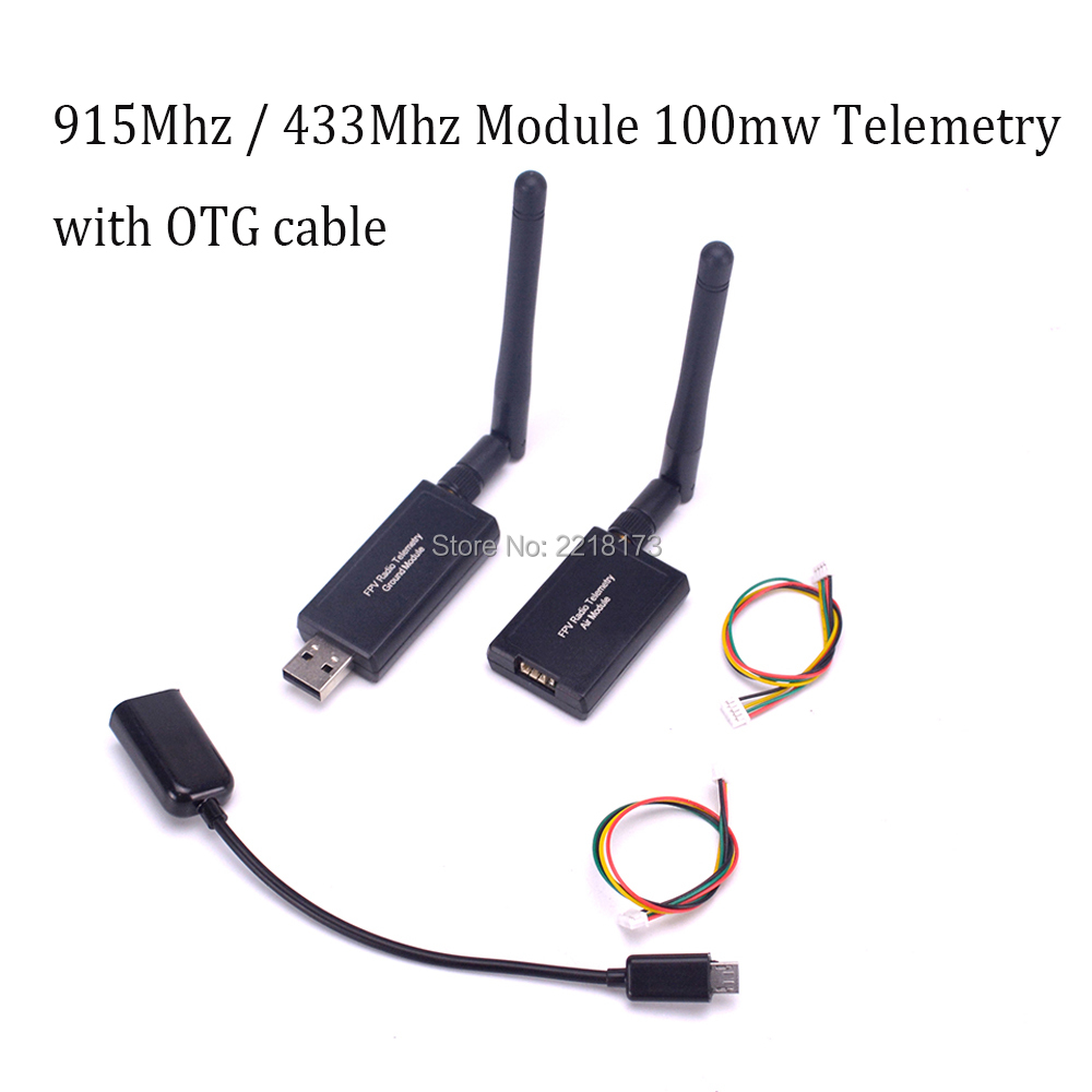 3DR 915Mhz 915 / 433Mhz 433 Module 100mw Radio Telemetry Kit with OTG cable For APM Pixhawk For FPV Quadcopter apm 2 5 3dr telemetry osd y cable red black white