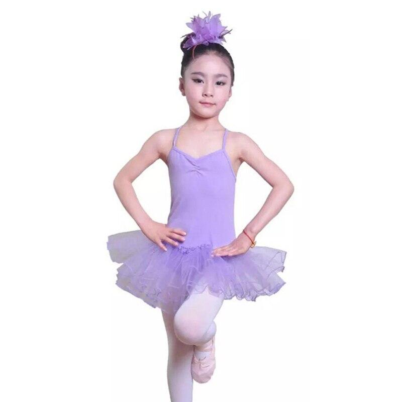 Niñas Ballet vestido de tutú para niños Dancer leotardo niña danza ...