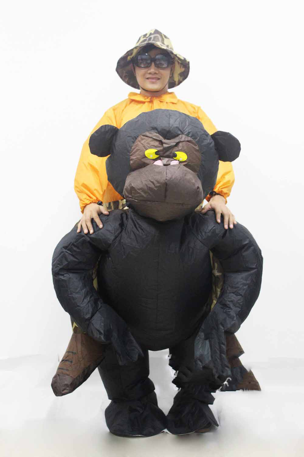2019 New Women/Men Riding Inflatable Gorilla Costume Chimpanzee Halloween Cosplay Funny Inflatable Costume Monkey Costume