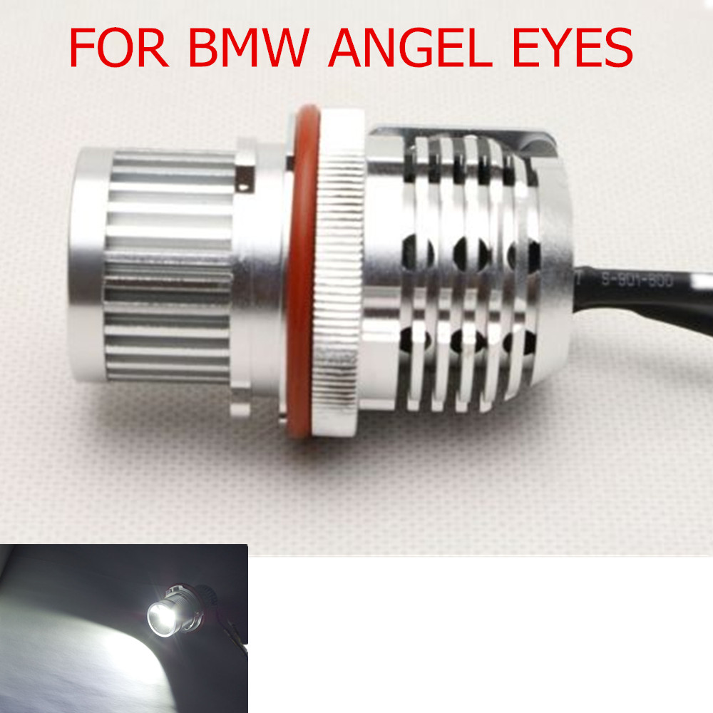 hot sell 2Pcs/lot 20W LED Marker  Car Angel Eyes  Bulb for BMW E39 E60 E66 E87 1567 series
