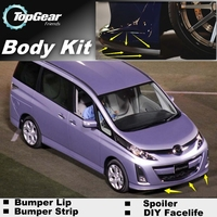 For Mazda Biante Bumper Lip / Front Spoiler Deflector For TOP Gear Friends to Car View Tuning / Body Kit / Strip Skirt