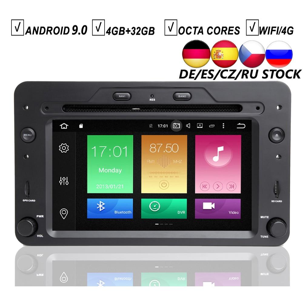 CAR ANDROID 9 0 DVD GPS PLAYER FOR ALFA ROMEO 159 SPORTWAGON SPIDER BRERA Navigation Auto