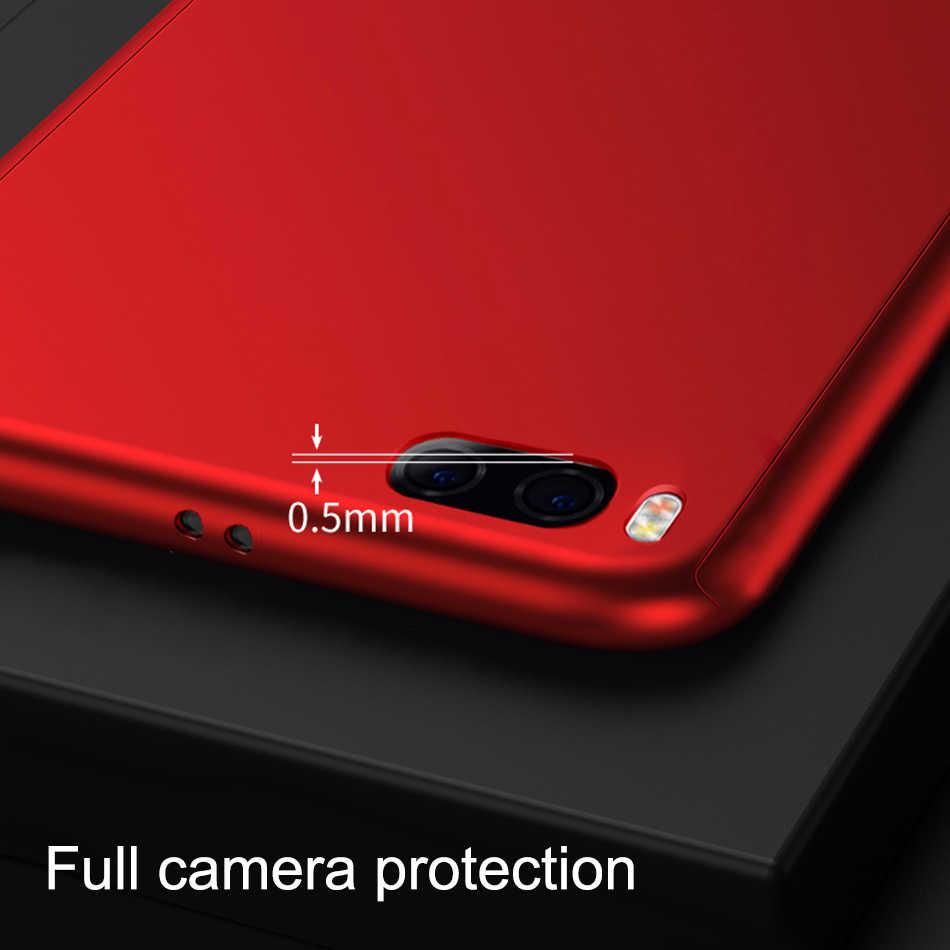 on sale f5056 546d8 360 Degree Full Cover Phone Case For Xiaomi Mi6 6X Mi8 SE Mi5 5S Plus PC  Hard Protective Cases Cover For Mi 6 MI 5S Case & Glass