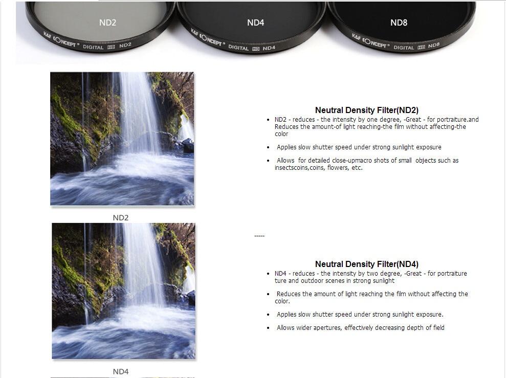 UV CPL FLD ND2 ND4 ND8 Lens Camera Filter Kit(52 58 62 67 72 77mm)+Lens Hood+Lens Cap+Cloth For Canon for Nikon for Sony etc. 12