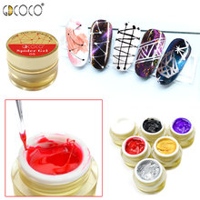 GDCOCO 3D Drawing Gel Soak off UV LED Modeling DIY Nail Design Easy to Use Line Paint Sculpture Varnish