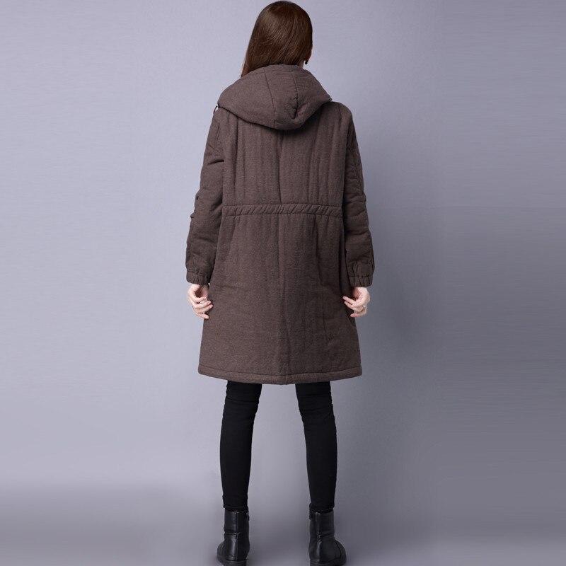 c508 Capuche Nouveau Rembourré Vers Manteau C508 Manteaux Coton Parka Plus À Lâche Long La 2017 Épais Bas Femmes Cordon D'hiver Femme Le Taille Veste zHqxwxgd