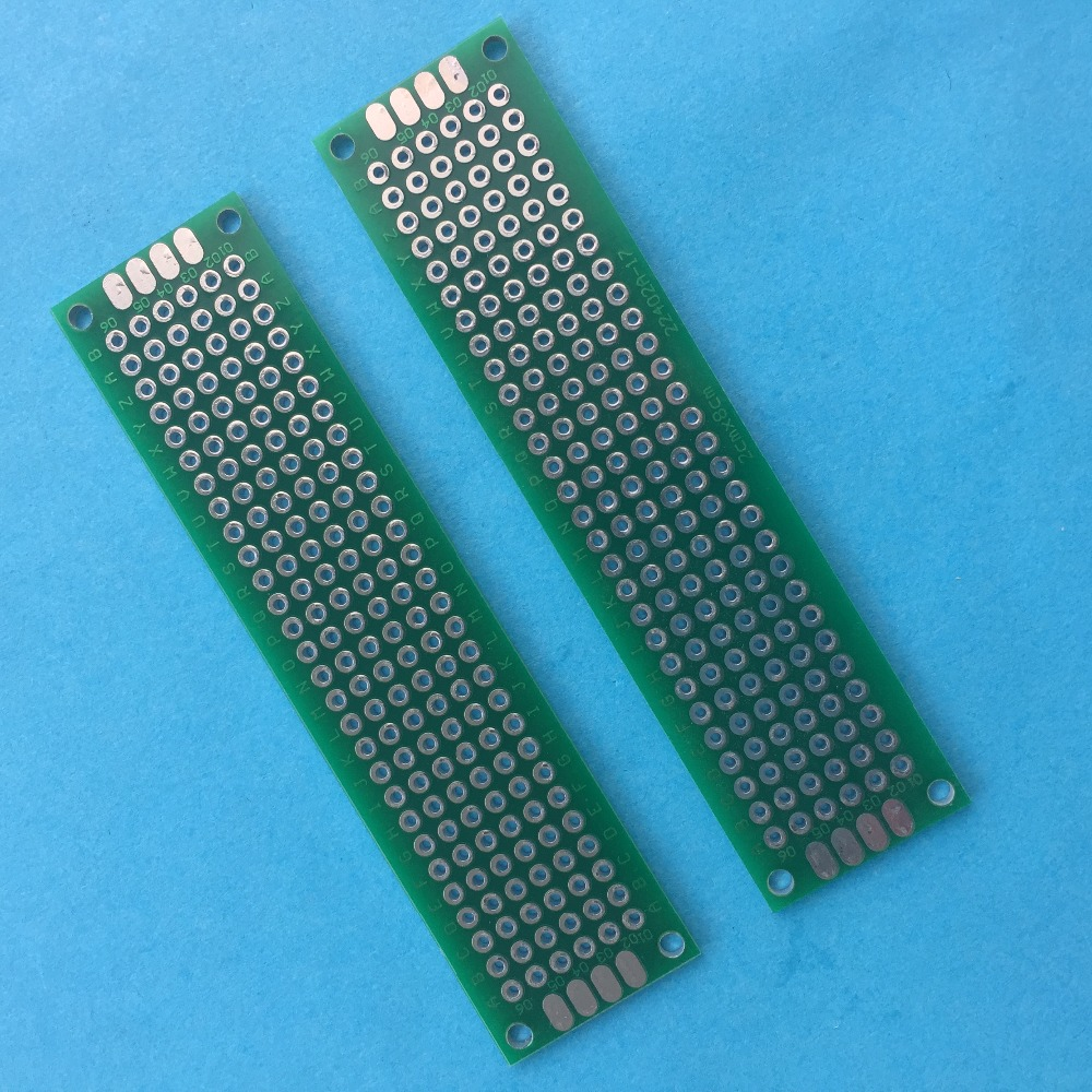 2pcs J380Y 20*80mm Printed Circuit Board DIY PCB Weld Electronic Components Small Circuit Making Sale At A Loss