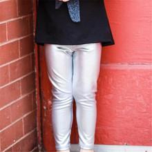 Wiosenne spodnie dla niemowląt złoto-biała srebrna chłopięca spodnie dziewczęce legginsy spodnie dziecięce odzież maluch spodnie dla niemowląt tanie tanio beikinyuans Stałe skinny baby pants Unisex NYLON spandex Europejskich i amerykańskich style Pasuje prawda na wymiar weź swój normalny rozmiar