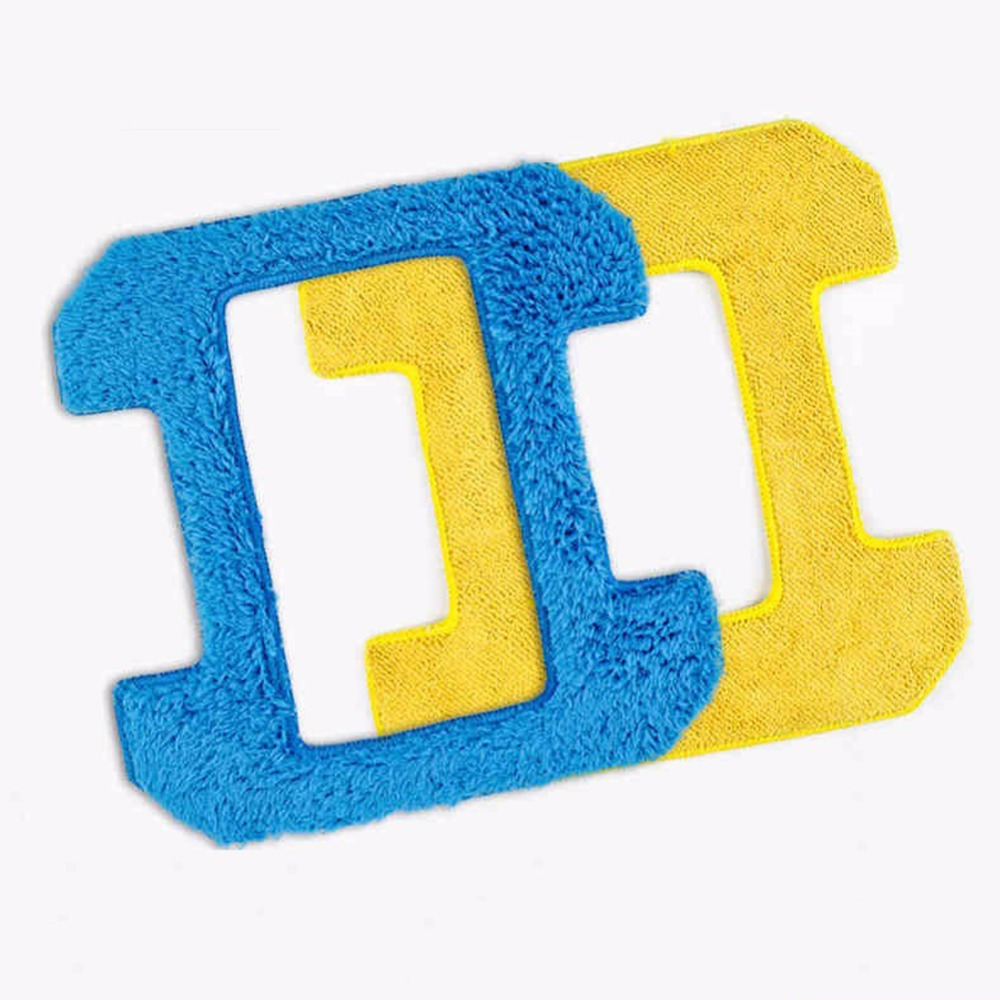 2pcs/lot 1pcs wet mop+1pcs dry mop for hobot 268 window clean mop cloth weeper glass windows microfiber cloth Cleaner Parts 2pcs lot 1pcs nc3mxx